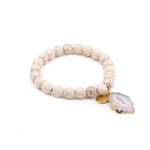Kinsley Armelle Agate Khaki Bracelet